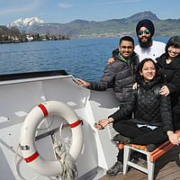 Fun on Lake Lucerne with B.H.M.S. Students